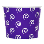 UNIQ 12 oz Purple Swirls and Twirls Take Out Cups