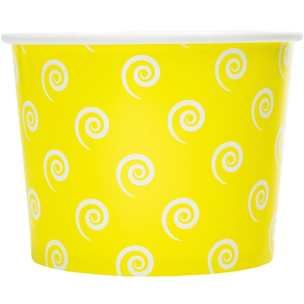 UNIQ 16 oz Yellow Swirls and Twirls Take Out Cups
