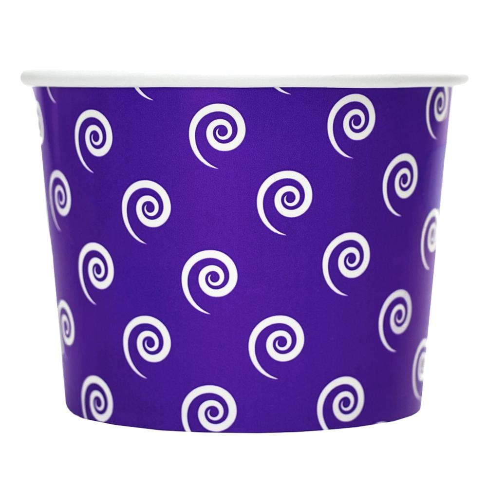 UNIQ 16 oz Purple Swirls and Twirls Take Out Cups