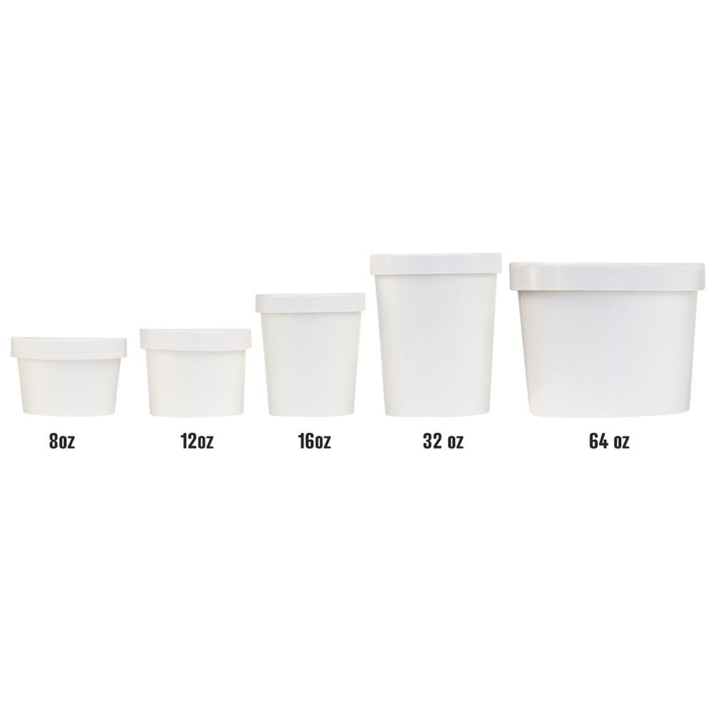 Pint 16 oz Premium Take Out Containers With Non-Vented Lids