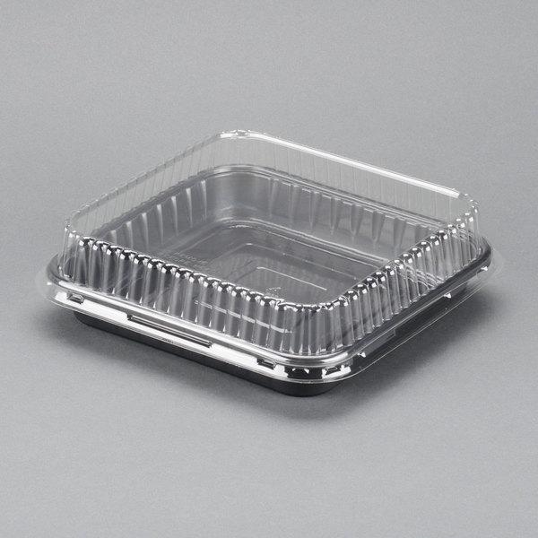 "8"" Square Dual Ovenable Square Brownie / Cake Pan with Lid"