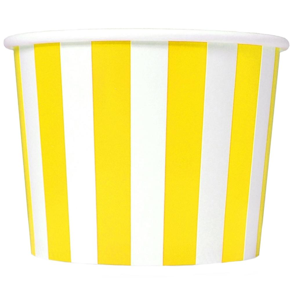UNIQ 4 oz Yellow Striped Madness Take Out Cups