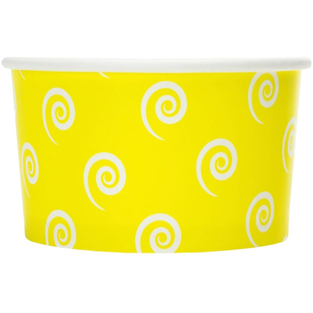 UNIQ 4 oz Yellow Swirls and Twirls Take Out Cups