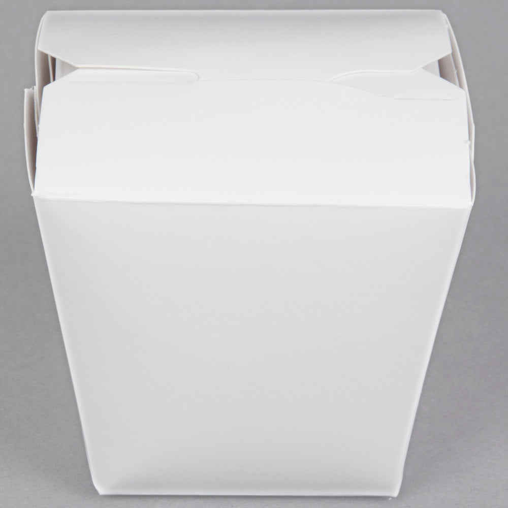 8 oz. White Paper Take-Out Container