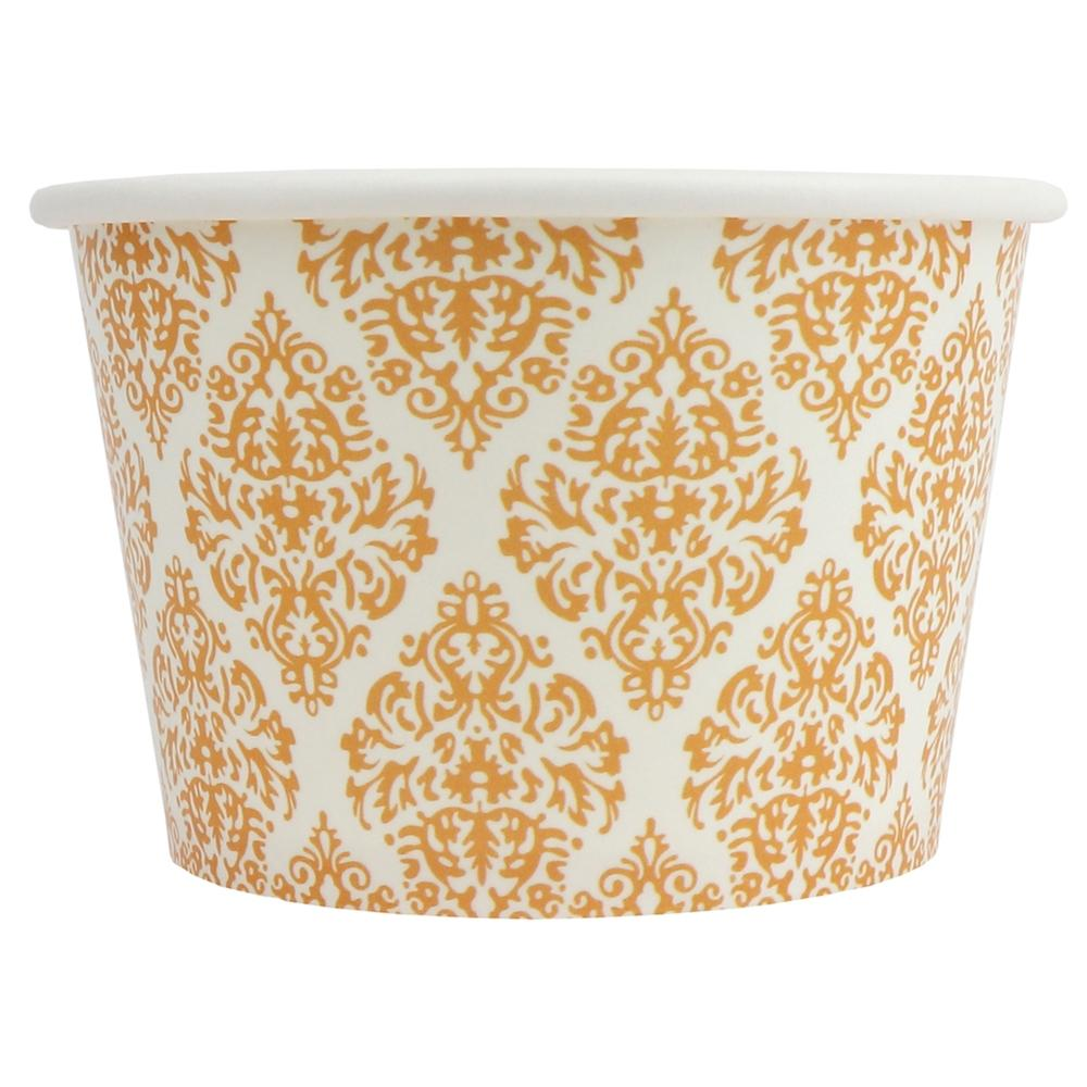 UNIQ 8 oz Elegant Gold Take Out Cups
