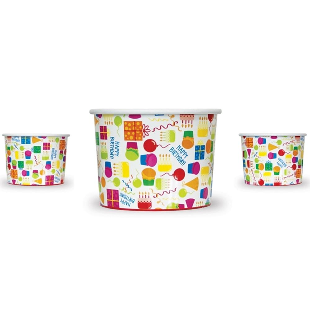 UNIQ 8 oz Happy Birthday Take Out Cups