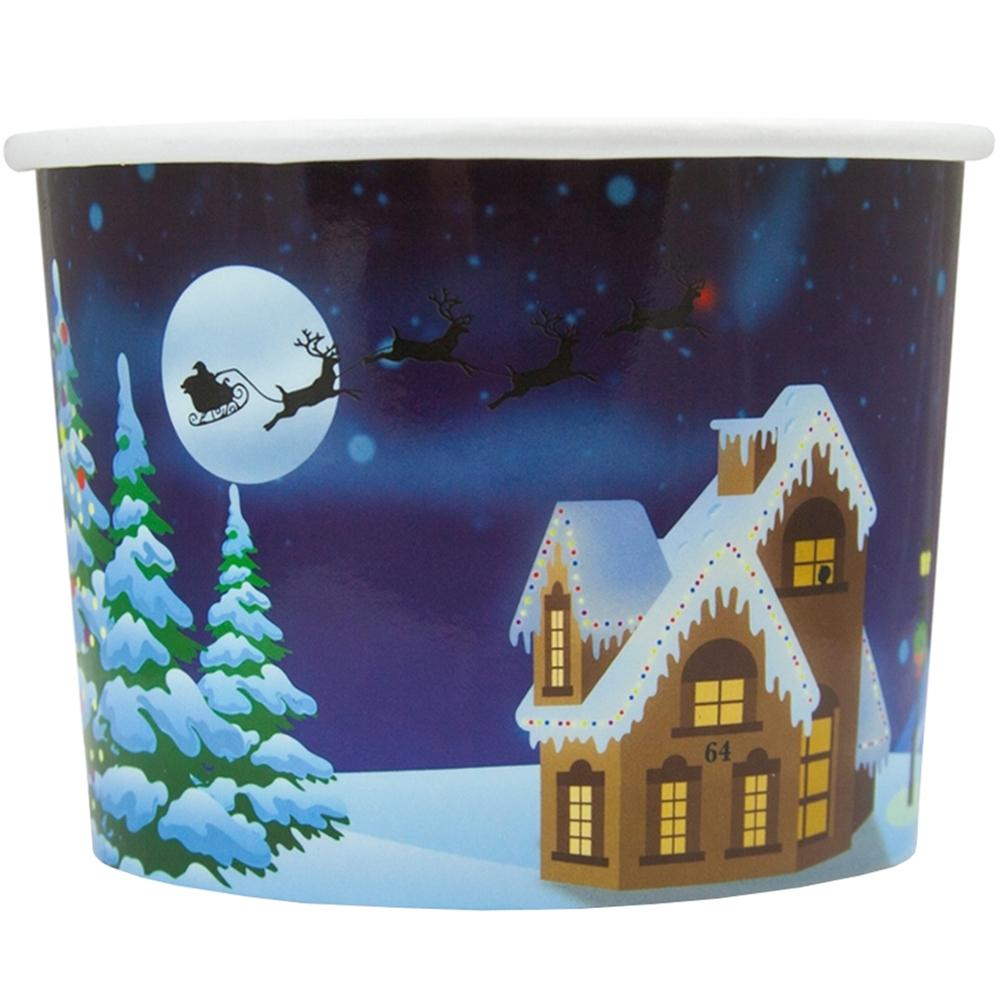 UNIQ 8 oz Santa Claus is Coming Take Out Cups