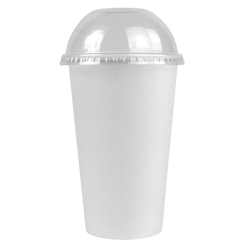 UNIQ® 12/16/22 oz Clear Dome Paper Cup Lids