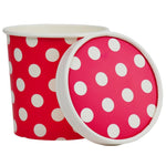 UNIQ® Pint 16 oz Pink Polka Dotty Take Out Containers With Non-Vented Lids