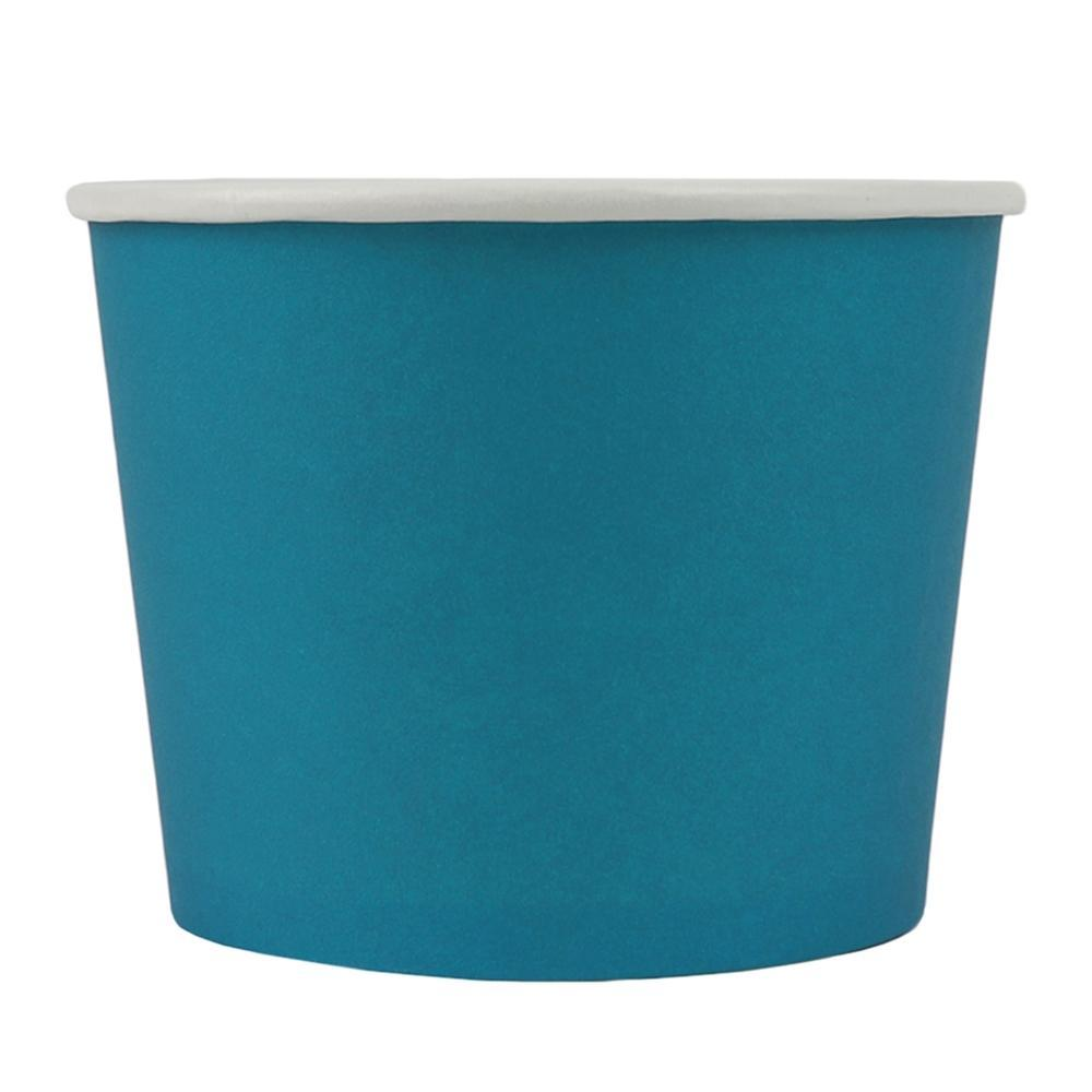 UNIQ 12 oz Blue Eco-Friendly Compostable Take Out Cups