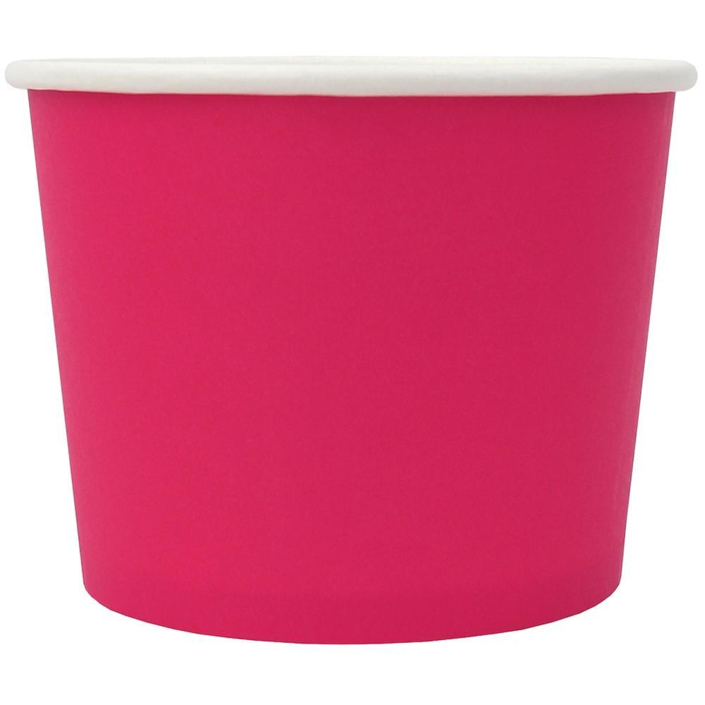 UNIQ 12 oz Pink Eco-Friendly Compostable Take Out Cups