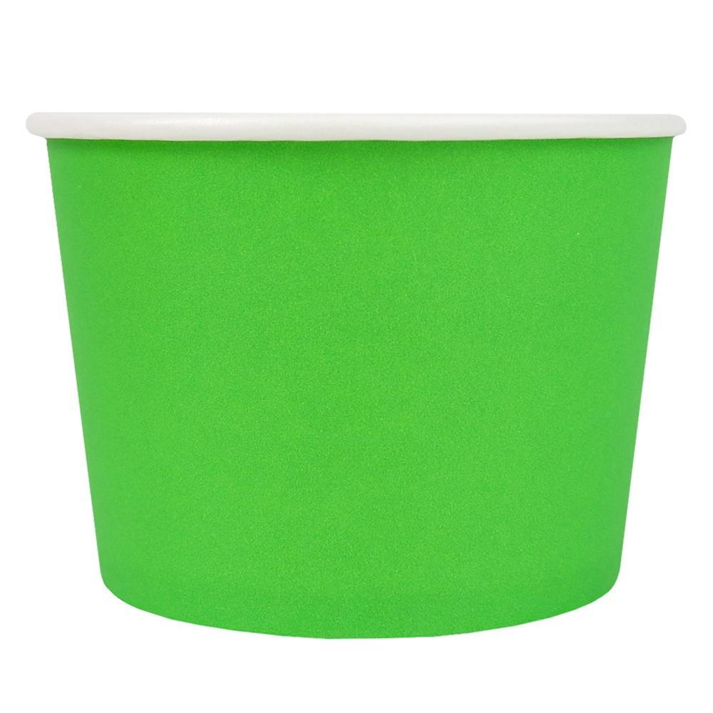 UNIQ 12 oz Green Eco-Friendly Compostable Take Out Cups
