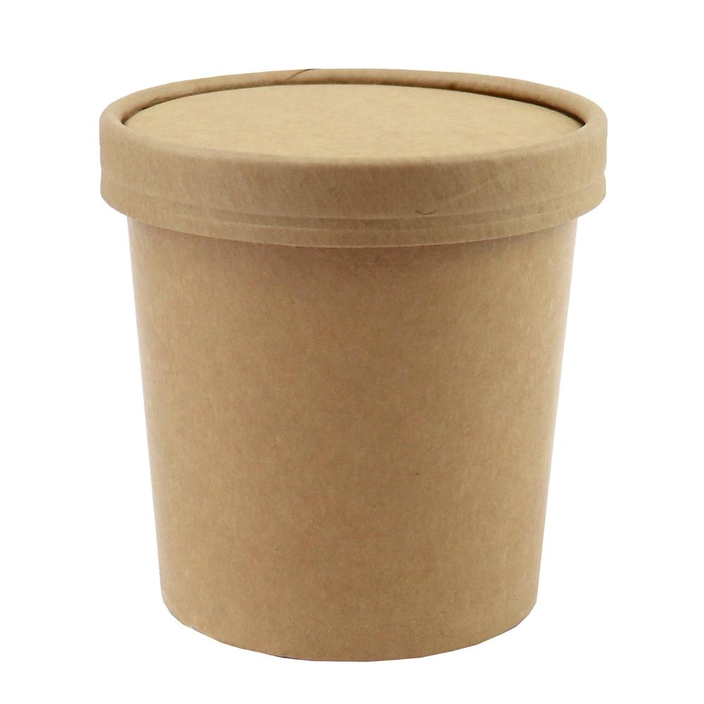 UNIQ™ Pint 16 oz Kraft Take Out Containers With Non-Vented Lids