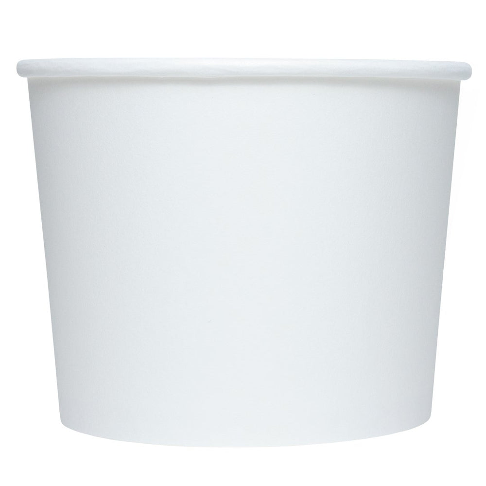 UNIQ 16 oz White Eco-Friendly Compostable Take Out Cups