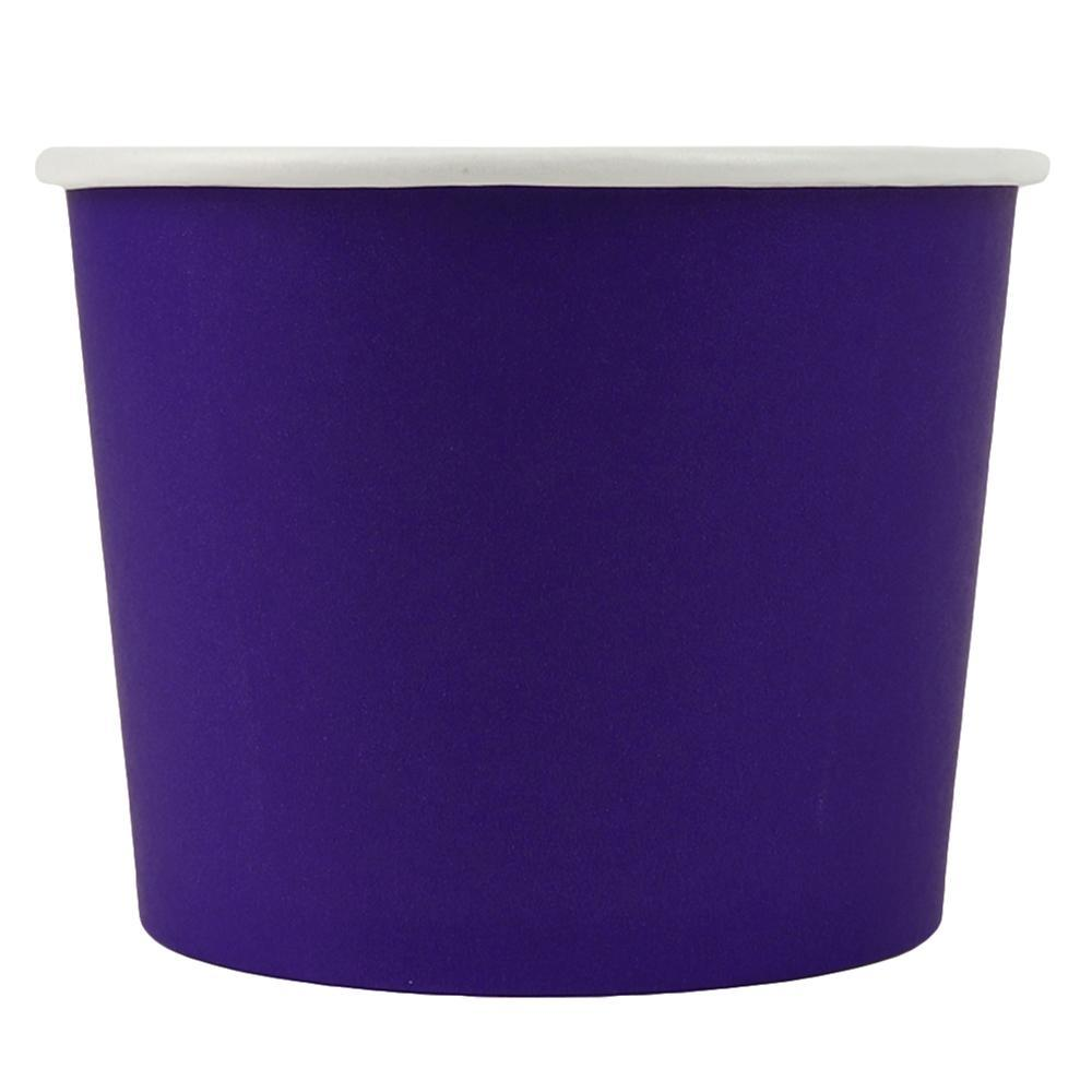UNIQ 12 oz Purple Eco-Friendly Compostable Take Out Cups