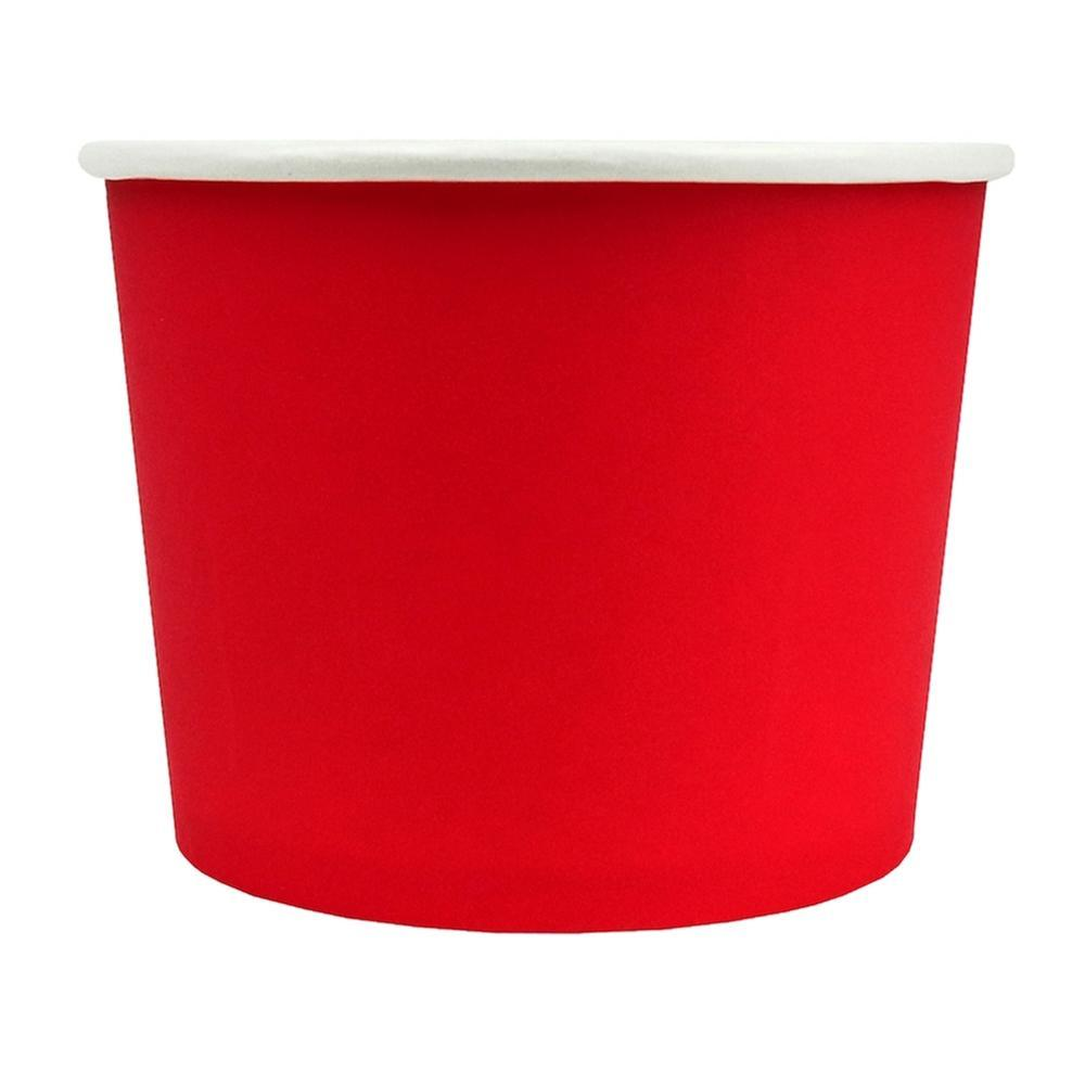 UNIQ 16 oz Red Eco-Friendly Compostable Take Out Cups
