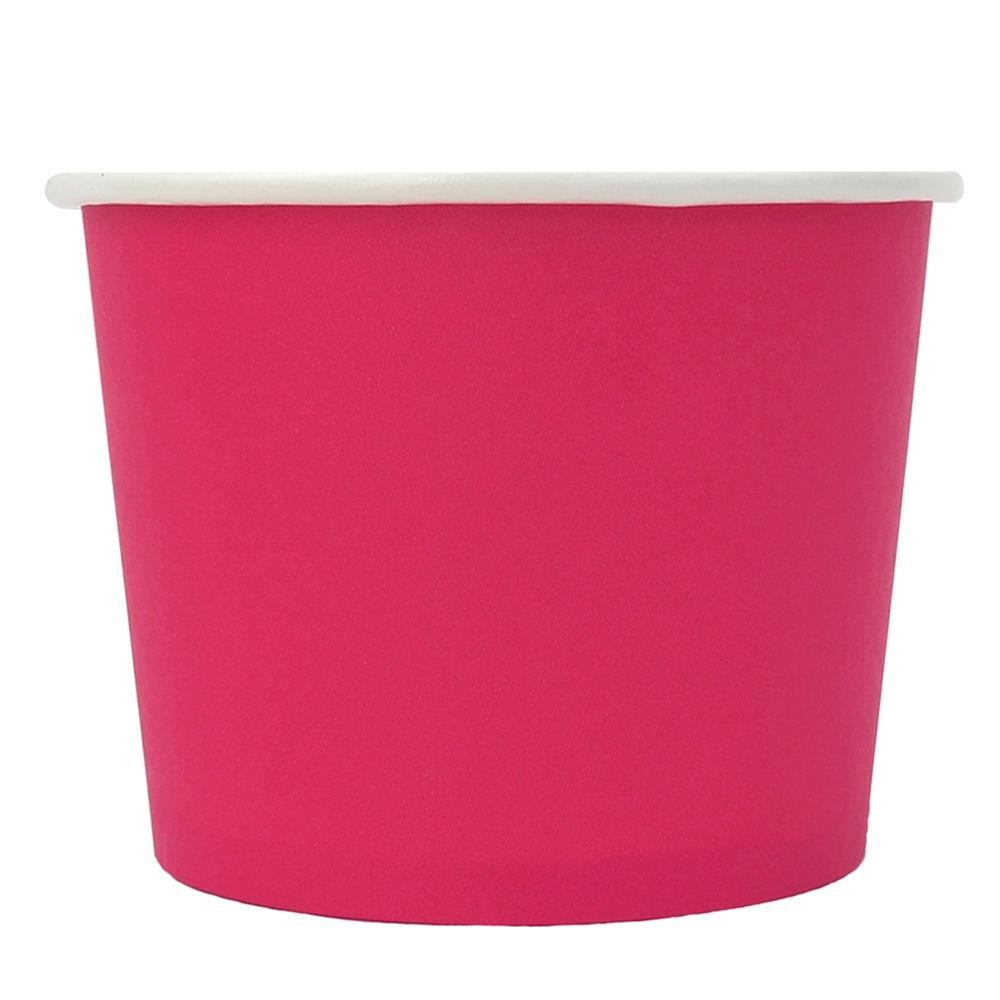 UNIQ 16 oz Pink Eco-Friendly Compostable Take Out Cups