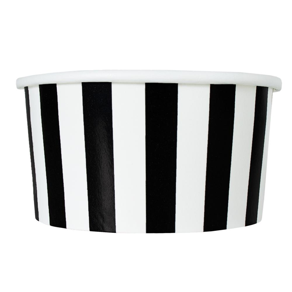 UNIQ 6 oz Black Striped Madness Take Out Cups