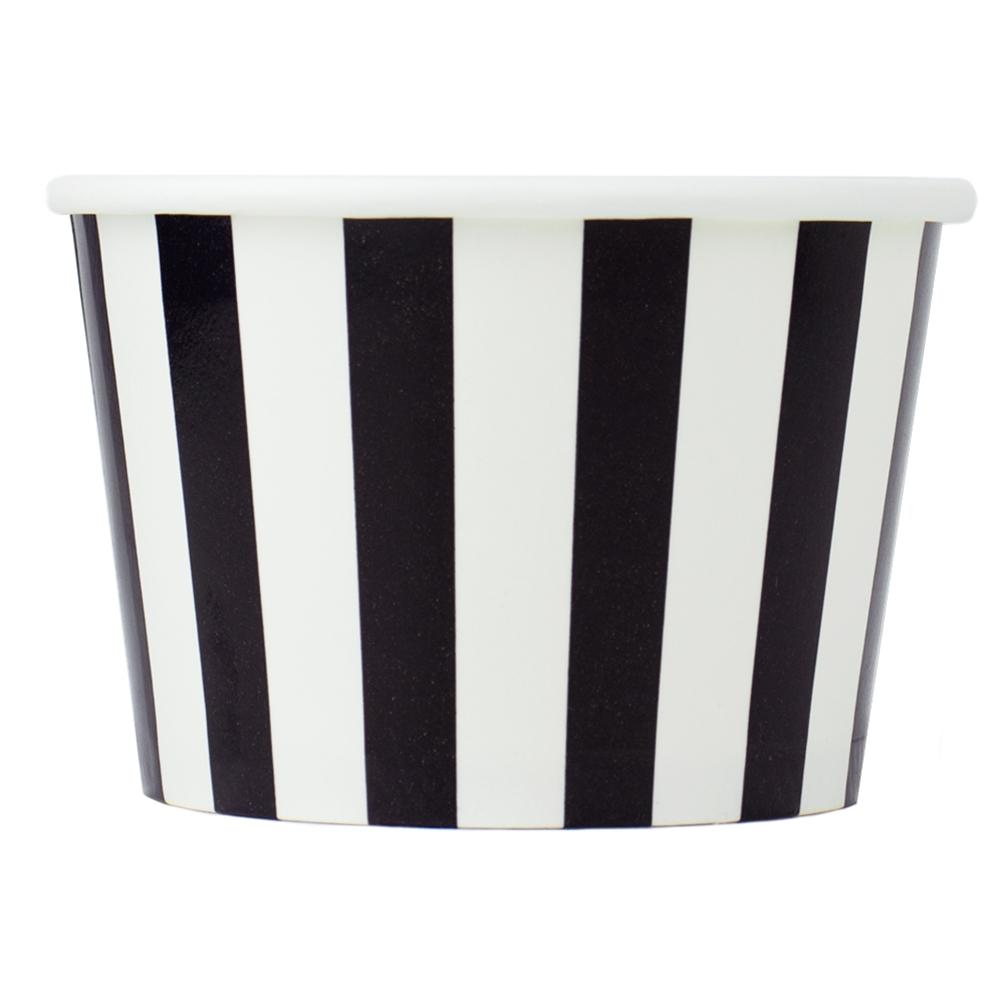 UNIQ 8 oz Black Striped Madness Take Out Cups