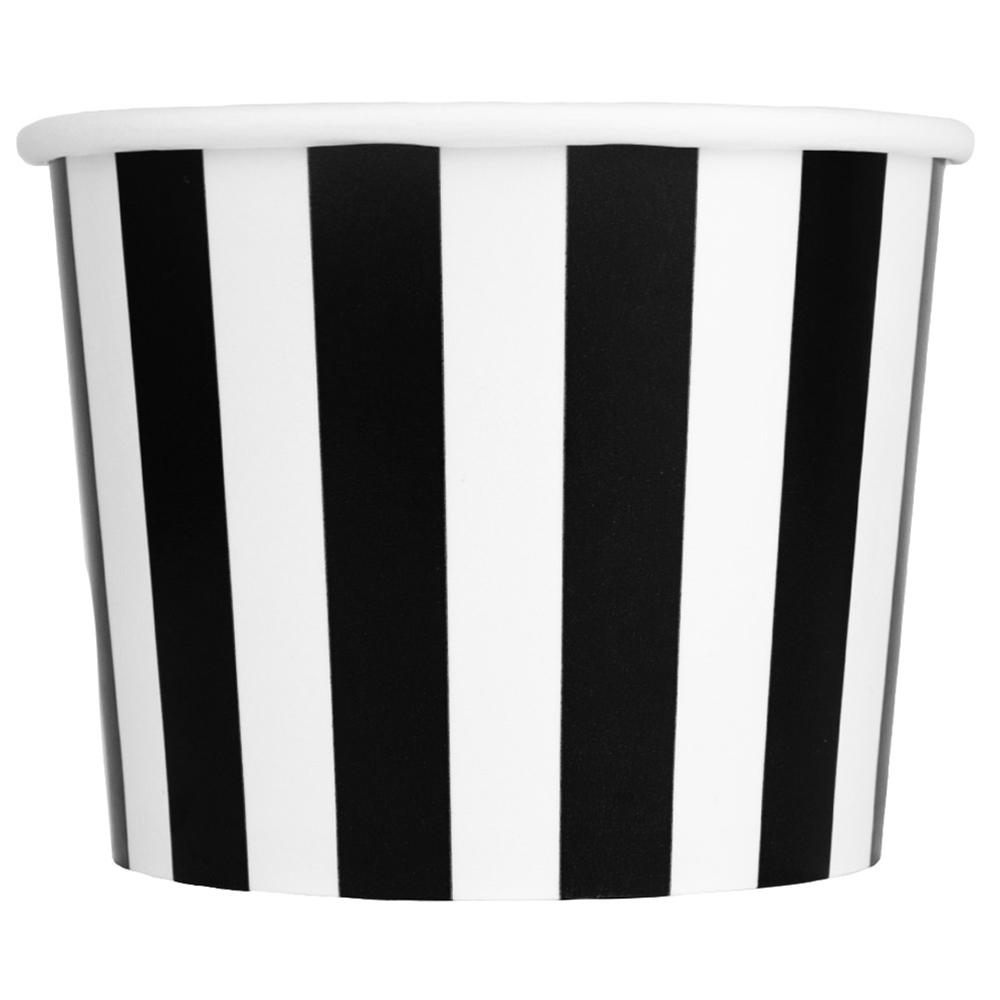 UNIQ 12 oz Black Striped Madness Take Out Cups