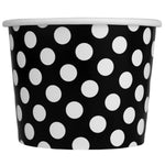 UNIQ 12 oz Black Polka Dotty Take Out Cups