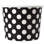 UNIQ 16 oz Black Polka Dotty Take Out Cups