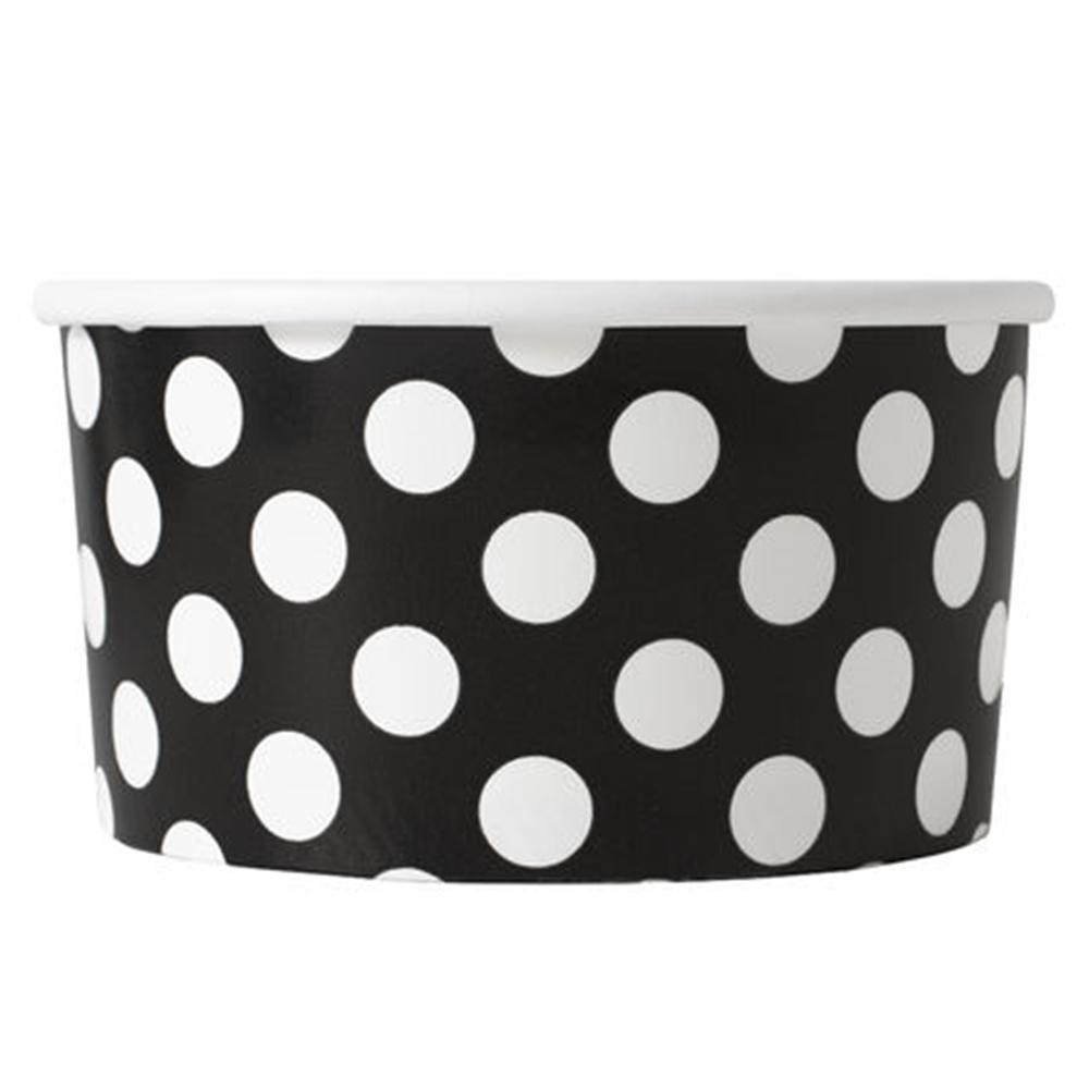 UNIQ 6 oz Black Polka Dotty Take Out Cups