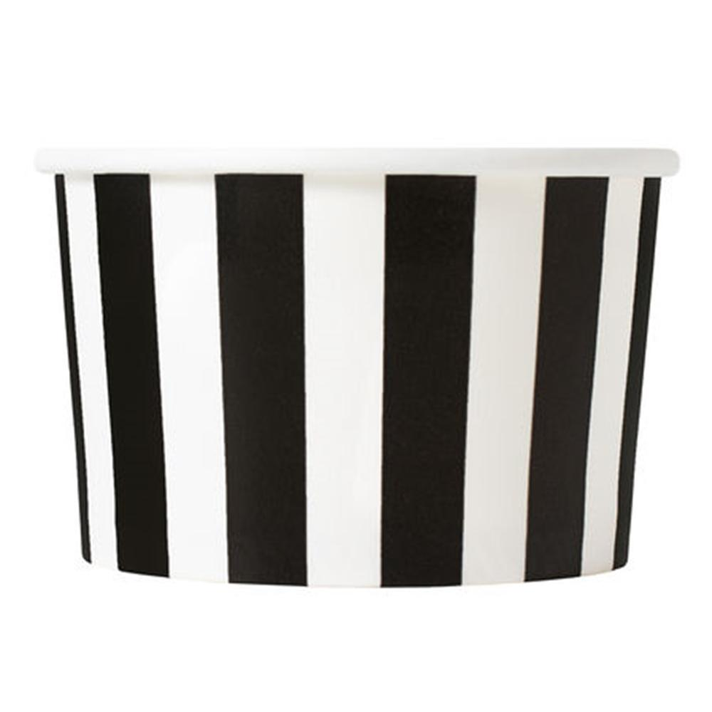 UNIQ 4 oz Black Striped Madness Take Out Cups