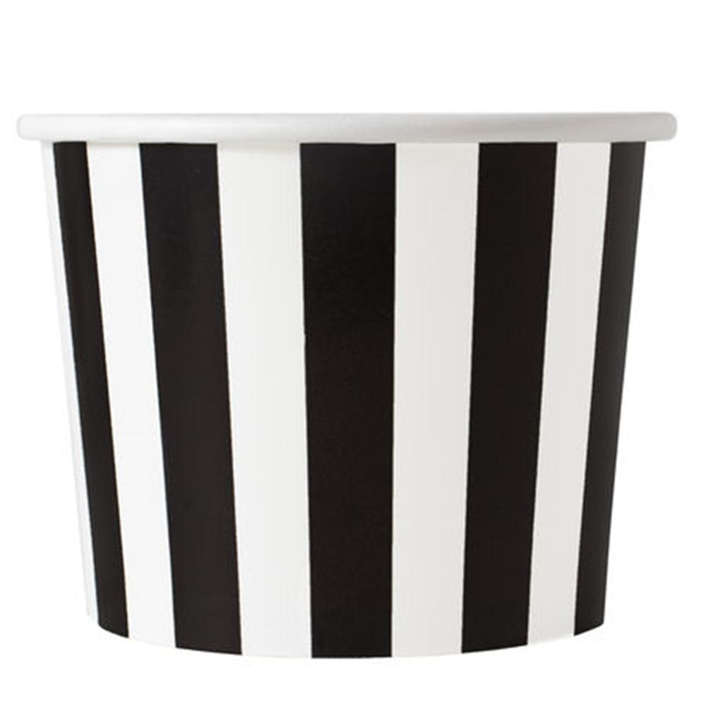 UNIQ 16 oz Black Striped Madness Take Out Cups