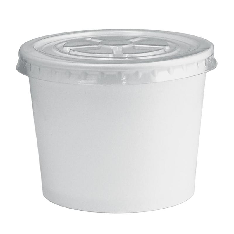 UNIQ® 12 oz Clear Flat Take Out Lids