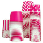UNIQ 8 oz Pink Eco-Friendly Compostable Take Out Cups
