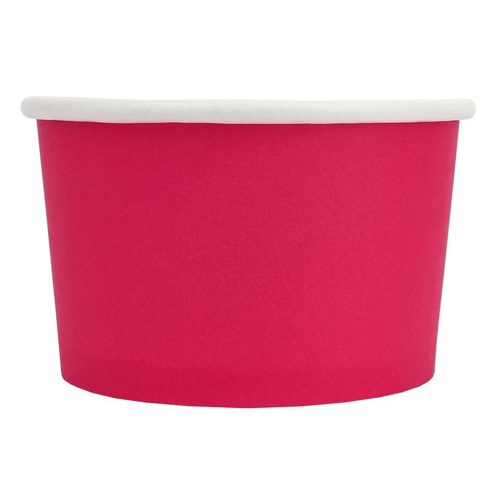 UNIQ 4 oz Pink Eco-Friendly Compostable Take Out Cups
