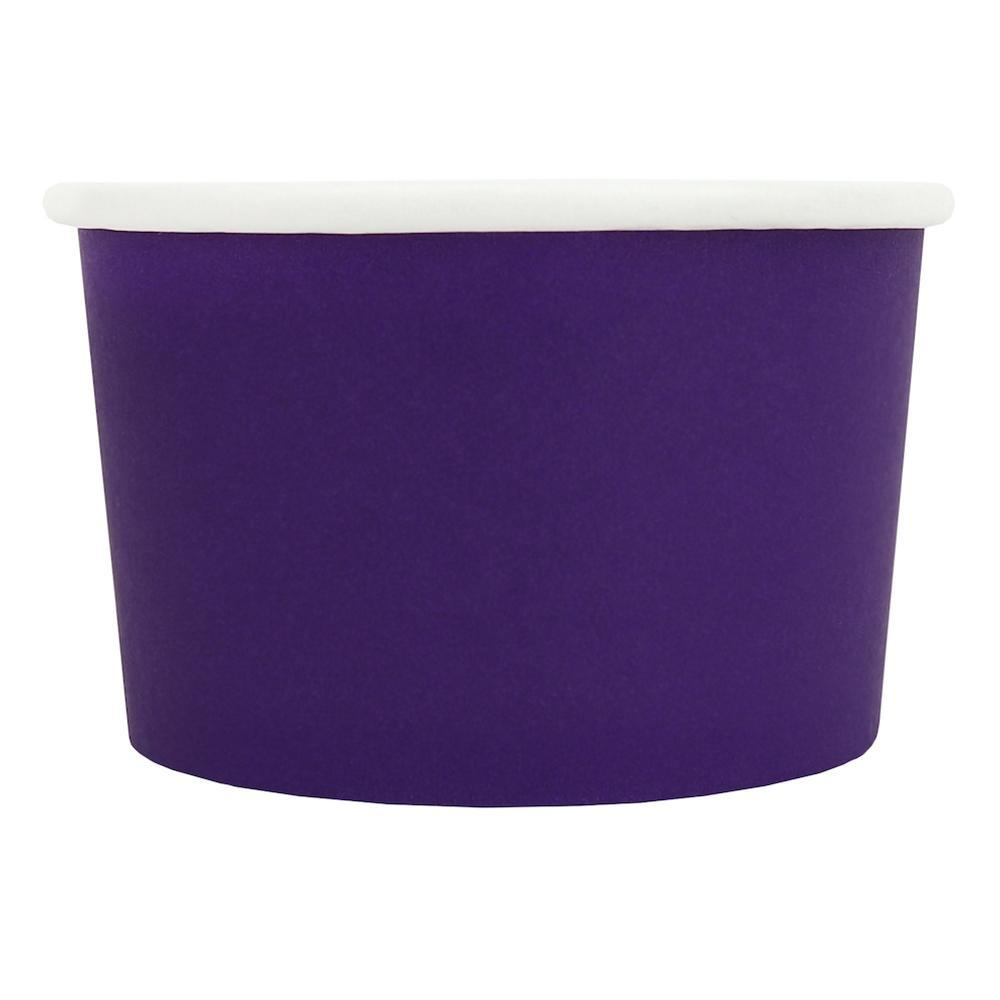 UNIQ 4 oz Purple Eco-Friendly Compostable Take Out Cups
