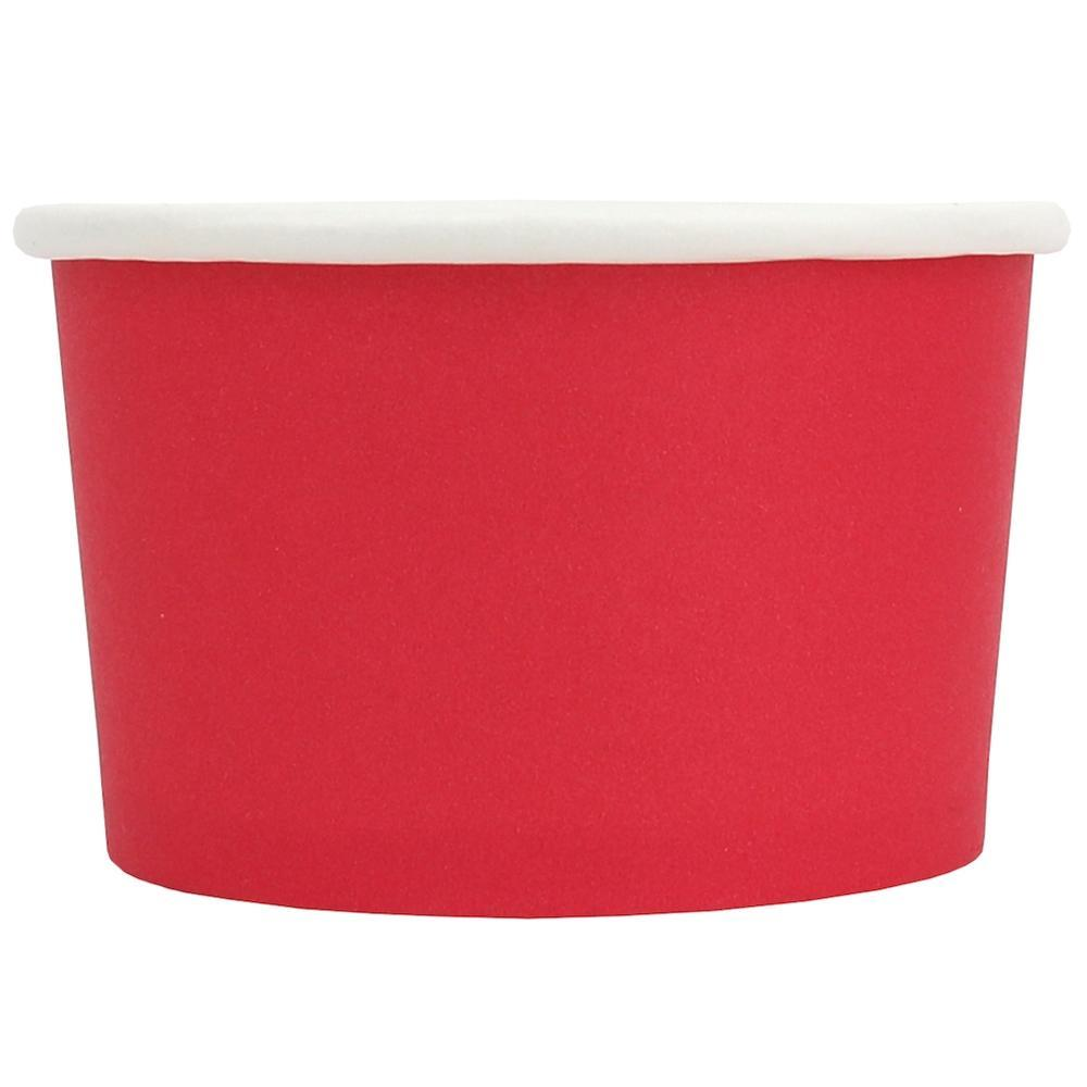 UNIQ 4 oz Red Eco-Friendly Compostable Take Out Cups