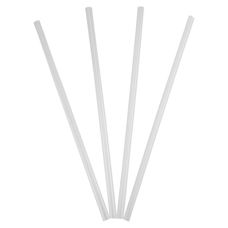"Straws - Clear Wrapped 7.75"" - Package of 500"