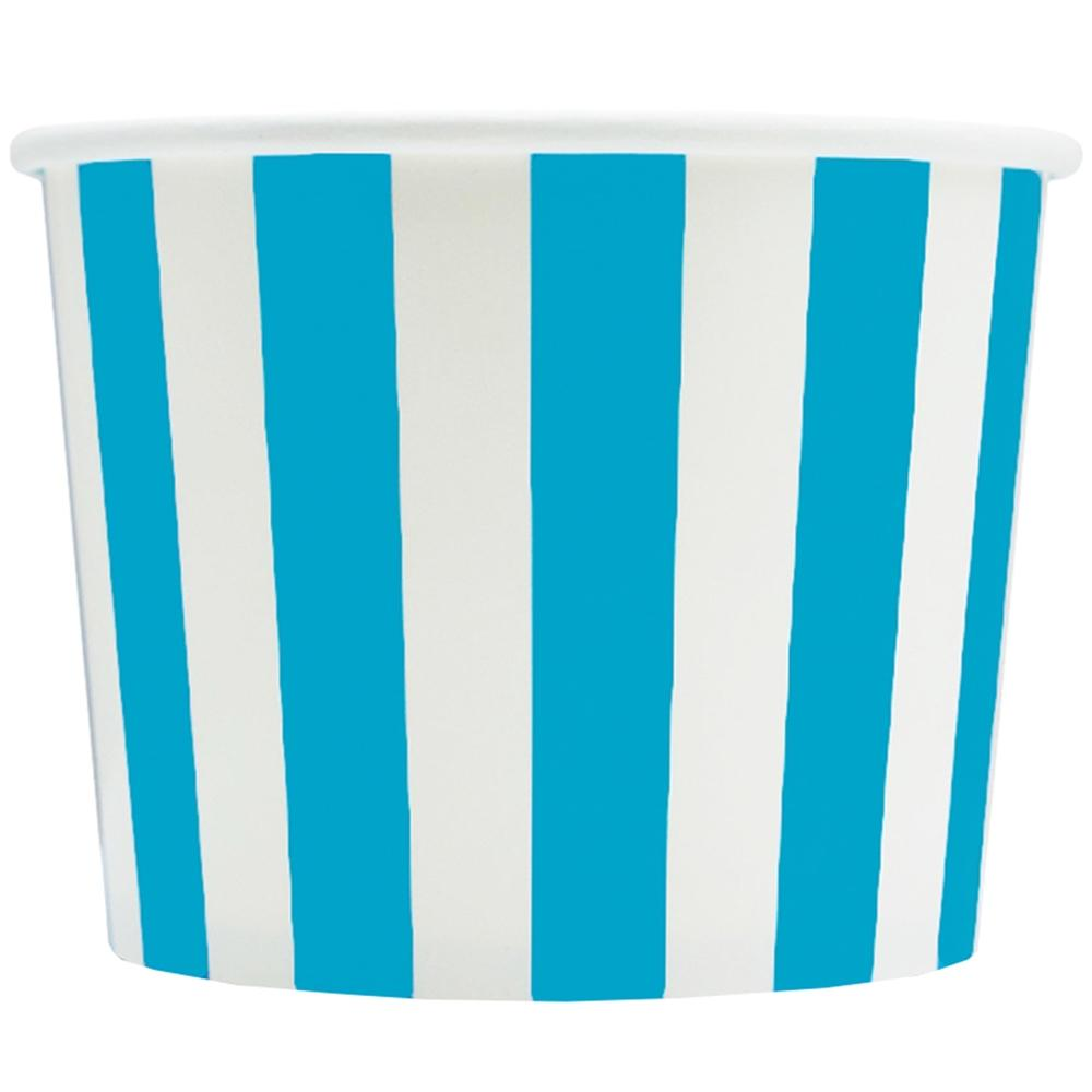 UNIQ 12 oz Blue Striped Madness Take Out Cups