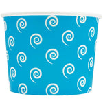 UNIQ 12 oz Blue Swirls and Twirls Take Out Cups