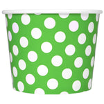UNIQ 12 oz Green Polka Dotty Take Out Cups