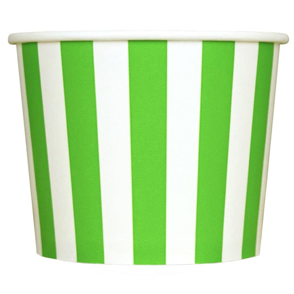 UNIQ 12 oz Green Striped Madness Take Out Cups