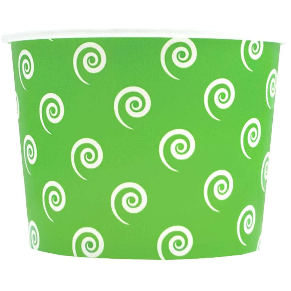 UNIQ 12 oz Green Swirls and Twirls Take Out Cups