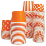 UNIQ 12 oz Orange Polka Dotty Take Out Cups