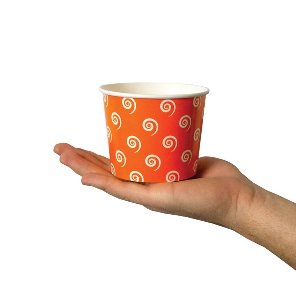 UNIQ 12 oz Orange Swirls and Twirls Take Out Cups