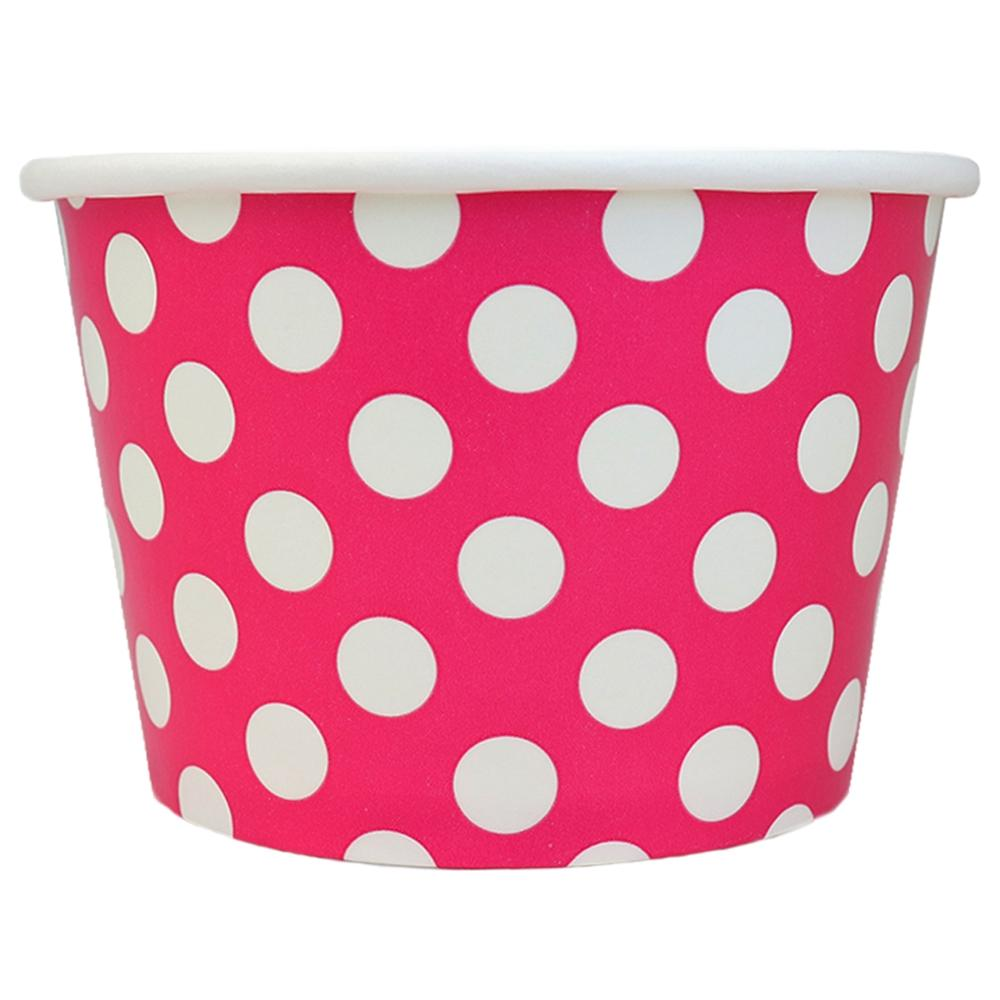 UNIQ 12 oz Pink Polka Dotty Take Out Cups