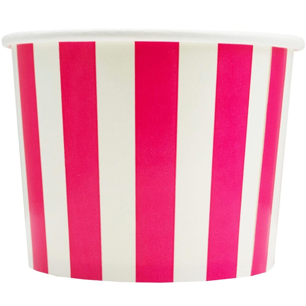 UNIQ 12 oz Pink Striped Madness Take Out Cups