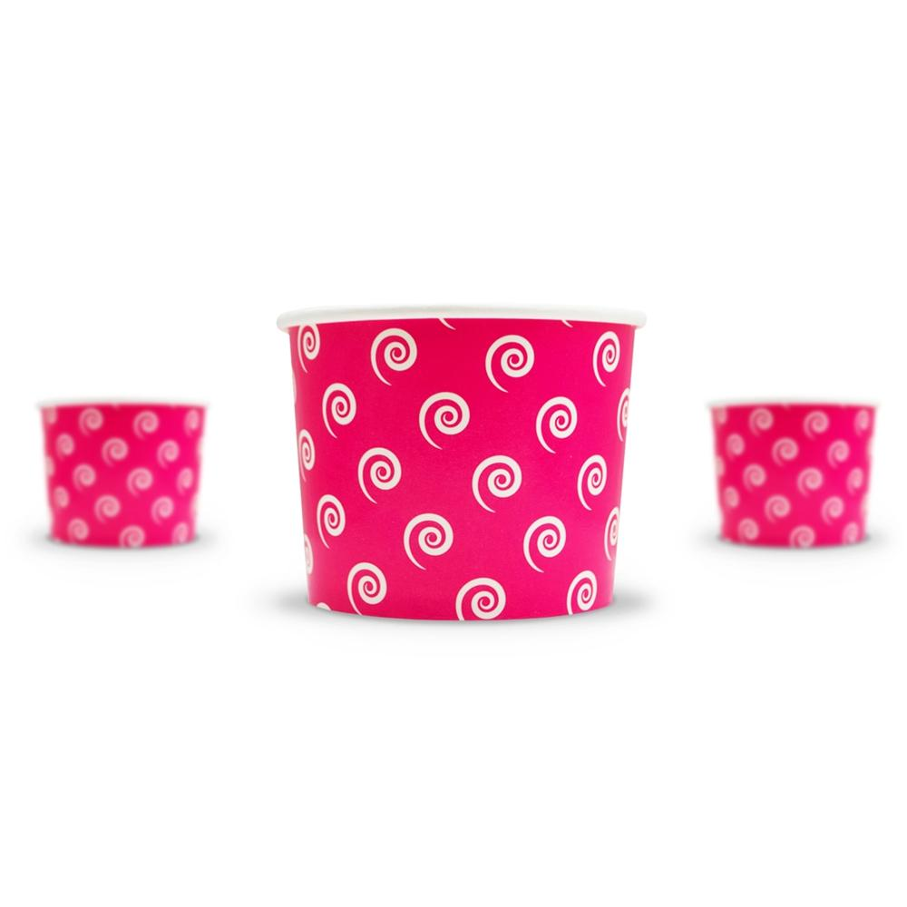UNIQ 12 oz Pink Swirls and Twirls Take Out Cups