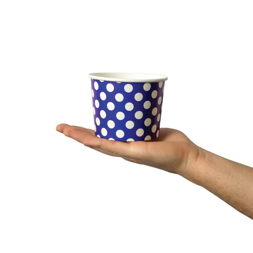 UNIQ 12 oz Purple Polka Dotty Take Out Cups