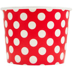 UNIQ 12 oz Red Polka Dotty Take Out Cups