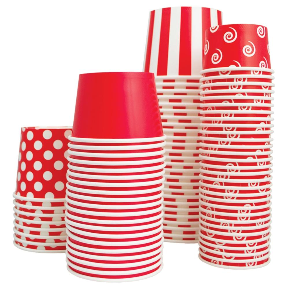 UNIQ 12 oz Red Striped Madness Take Out Cups