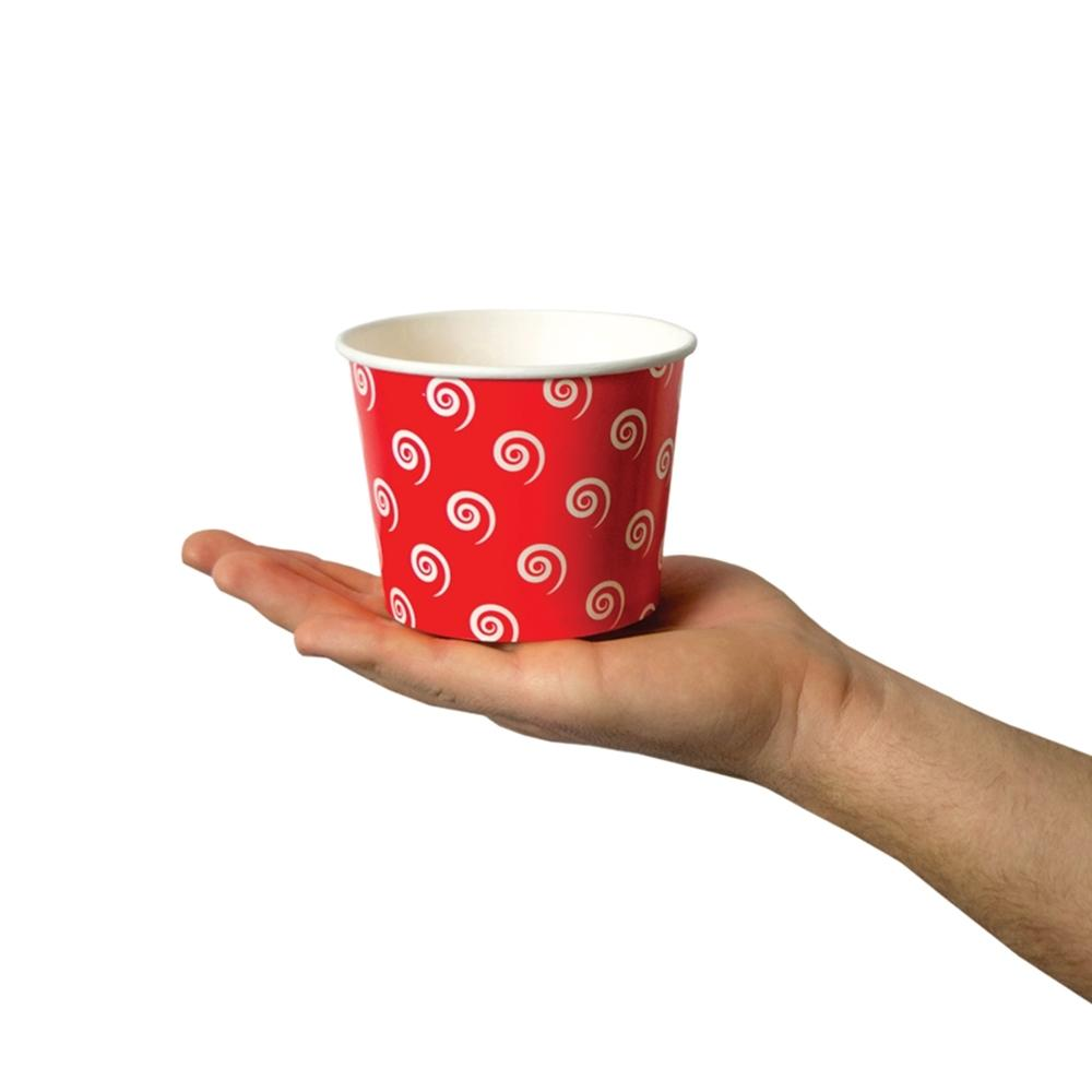 UNIQ 12 oz Red Swirls and Twirls Take Out Cups