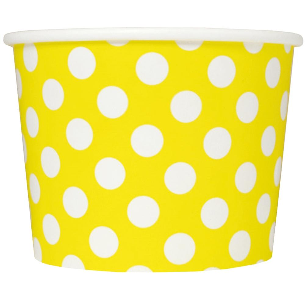 UNIQ 12 oz Yellow Polka Dotty Take Out Cups